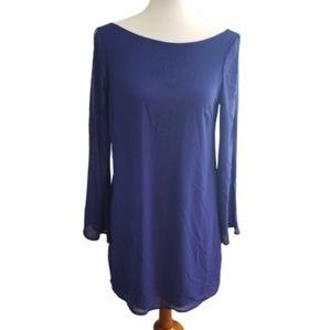    LUSH    Small Long Sleeve Violet Sheer Dress